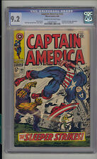 Captain America #102 CGC 9.2 NM- Unrestored Marvel Red Skull Sleeper CR/OW Pages