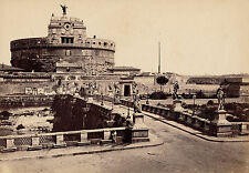 ROME c. 1870 - Pont et Château St Ange Italie  - 43