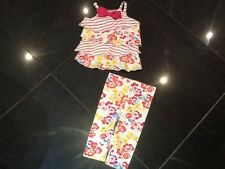 Juicy Couture New & Gen. Baby Girls Floral/Striped 6/12 MTHS 2 Piece Cotton Set