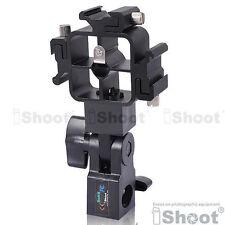 Tri-Hot Shoe Mount Flash Bracket/Umbrella Holder for Nikon Canon Pentax Sigma