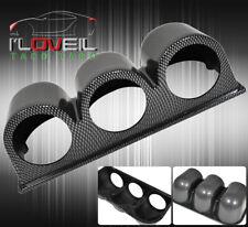 Carbon Fiber Dash Gauge Pod Tri 3 Holder 52mm Racing Vip B16 B18 F22 H22 K20 K24