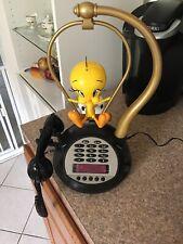 Vintage Telemania - Talking Tweety Bird Radio / Alarm Clock / Phone