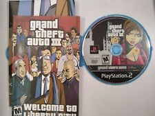 Grand Theft Auto III GTA 3 Sony PlayStation 2, 2003 PS2 Comes w/ Manual & Poster