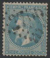 "FRANCE STAMP N° 29 Bb "" NAPOLEON III 20c VARIETE A LA CORNE "" OBLITERE TTB  K401"