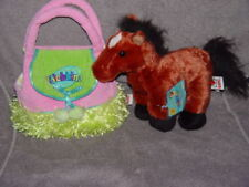 Webkinz Brown Arabian Horse In Carrier Purse