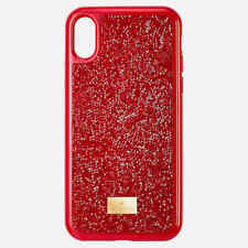 SWAROVSKI CRYSTAL GLAM ROCK IPHONE CASE X, XS RED 5479660.NEW IN BOX