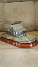 """The Danbury Mint """"Gone Hunting"""" Cabin, Deer With Wood Base"""
