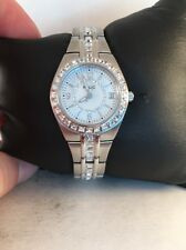 Relic Glitz By Fossil Ladies Queens Court Crystal Watch ZR11788-Silver Tone-H1