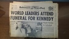 World Leaders attend Kennedy funeral - Nov 25 1963  Baltimore American News Post