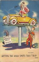 COMIC:  Rear End Greasing 50¢ - ARTIST SIGNED Walt Munson - World's Fair Cancel