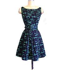 TRASHY DIVA AUDREY DRESS midcentury green mini vintage 1950s pin up retro 2 XS