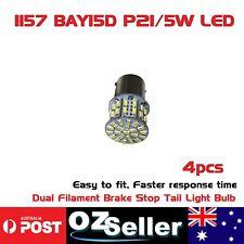 4pcs White BAY15D 50LED 1157 Car Dual Filament Brake Stop Tail Light Bulb Globe