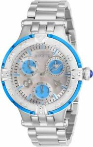Invicta Subaqua 26145 Women's Round Analog Oyster Crystal Multi-Dial Cyan Watch