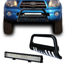 Black HD Toyota Tacoma 05-15 Bull Bar Bumper Grille Guard + 126W Cree LED Light
