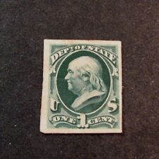 Us Proofs Stamp Scott# O57P3 State Franklin 1873 Mh L190