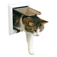 OPENBOX Trixie 38641 4-way Cat Flap With Tunnel White