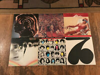 Rolling Stones 6 LP Lot - Hot Rocks, It's Only Rock Roll, Made Shade, Some Girls