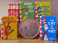 """SET OF FOUR DOLLS HOUSE MINIATURE CHILDRENS """"BOOKS""""  Handmade 1:12th SCALE"""
