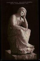 Skulptur Büste Kunst AK um 1910 Trauernde Magd Grabmal Motivkarte Postcard