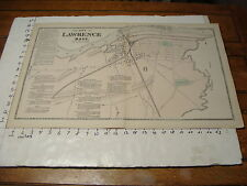 """1872 Massachusetts Town Map 16"""" X 26"""": Lawrence south side"""