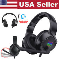 RGB LED Over-ear Gaming Headset Stereo Mic Headphone For PS4/Xbox One/Laptop/PC