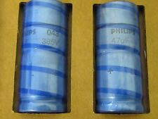 2 Stück - Elko axial 47µF 385V - PHILIPS HP043 LL 18x42mm (AE27/9778) 47uF