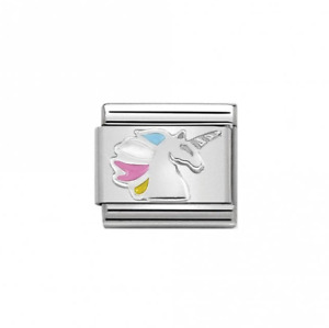 GENUINE NOMINATION Stirling Silver Unicorn Link 330202-16 FREE DELIVERY