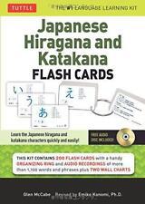 aprendizaje Japanese Hiragana & katakana Tarjetas Kit de Emiko konomi BOLSILLO