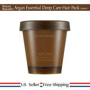 Nature Republic Argan Essential Deep Care Hair Pack 200ml + Free Sample [ US ]