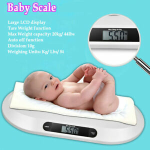 Infant Weight Scale 44 LBS Digital Baby Scale Electronic Pet Cat Dog Scale White