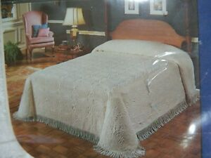 NEW OLDE VIRGINIA BEDSPREAD COVERLET KING 100% COTTON FRENCH FARMHOUSE CHIC
