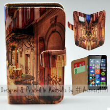 Wallet Phone Case Flip Cover for Microsoft Nokia Lumia 640 Alp Street Night Cafe