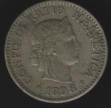 More details for 1898 switzerland 10 rappen coin broken '9' | european coins | pennies2pounds