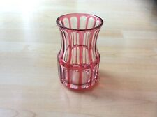 Vintage Saint Louis French Cut Crystal Ruby Red Vase