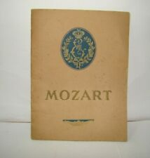 MOZART play by Sacha Guitry in Théâtre Édouard VII Paris France 1925 program ad
