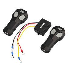 Wireless 2 Remote Control +Receiver Set Winch Kit For Car Bulldog Jeep ATV SUV