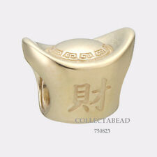 Authentic Pandora 14k Gold Ingot Bead 750823