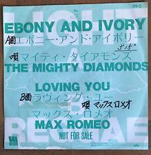 """The Mighty Diamonds - Ebony & Ivory Max Romeo - Loving you Japan Promo 7"""" Vinyl"""