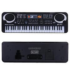 61 Keys Digital Music Electronic Keyboard Key Board Electric Piano Gift Black