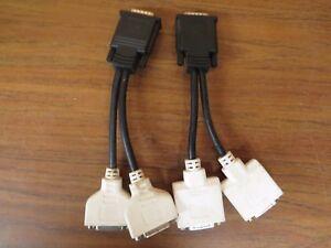 +Lot of 2 Molex Dual DVI Y Splitter Computer Cable