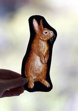 rabbit kilnfired stained glass fragment, rabbit suncatcher, silver stain, bunny