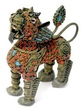 Nepal Foo LION Hebei fu cane Guardiano Tempio Leone cani 19. secolo