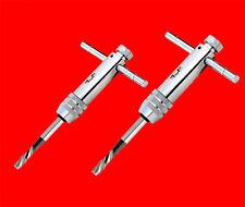 2 x Gewindebohrer Ratschen Werkzeughalter M3 - M12 Gewinde Windeisen BGS Kurz