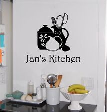 Personalized Kitchen Wall Sticker Wall Art Decor Vinyl Decal Lettering 13x14