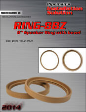 """2 RINGS - 8"""" INCH MDF WOOD SPEAKER SUBWOOFER MOUNTING SPACER RECESSED W/ BEZEL"""