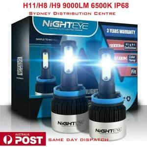 Nighteye/NOVSIGHT 2x H11 LED Headlight Light Bulb Replace Halogen 72W 9000LM/Set