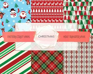 Christmas Pattern Vinyl HTV & Adhesive Craft Vinyl | SISER | ORACAL