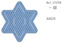 270TR Hama Beads MIDI Placa estrella pequeña transparente Pegboard