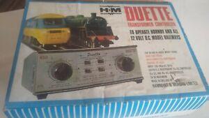 NEW H&M Duette twin track model train controller / transformer OO VERY RARE NEW