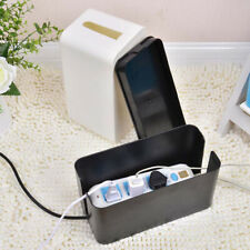 Cable Storage Box Case Tidy Wire Management Power Plug Socket Safety Organizer
